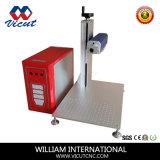Máquina de la marca del laser de la fibra para el aluminio/Cobber/la plata (VML-20FPS)