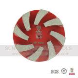 Outil de roue à plaque de meulage diamantée à 2 broches Turbo Metal Bond pour broyeur prép / maître