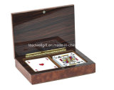 Jogo de cartão de madeira do jogo