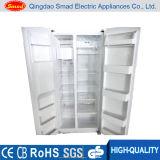 Aucun réfrigérateur side-by-side d'acier inoxydable de gel