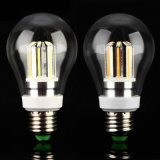 Luz de bulbo elevada do diodo emissor de luz do filamento do polvo E27 E26 B22 do lúmen 6W 8W