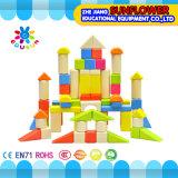 O Desktop de madeira das crianças brinca o enigma de madeira dos blocos de apartamentos desenvolventes dos brinquedos (XYH-JMM10009)