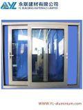 Ventes chaudes anodisant la fenêtre de glissement en aluminium argentée
