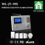 Sistema de alarma teledirigido de las zonas sin hilos GSM/PSTN del LCD 99
