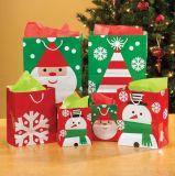 Sac de papier de cadeau estampé par Noël/sac à provisions/sac de transporteur
