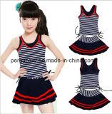 Form Striped Mädchen-Badebekleidungs-Kind-Badeanzug-Kind-Abnützung