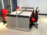 De moderne Rechte Hoge Verdeling van het Bureau met het Frame van het Aluminium van het Glas (HF-YZQ325)