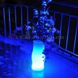 RGBW impermeabilizan el crisol de flor plástico de los crisoles de la planta de los muebles de la barra del LED