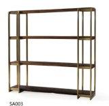 ステンレス鋼(BS005)が付いている現代簡単な純木の棚