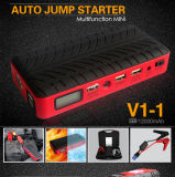 小型12000mAh、12800mAhのDiesel CarのためのLED Screen Shown The Power Canを持つ14000mAh /12V Portable Colorful Car Jump Starter PowerバンクのウシV1