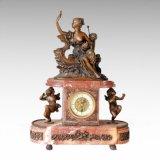 Escultura de bronce de señora Boat Bell de la estatua del reloj Tpc-019 (j)