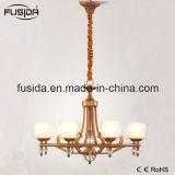 Neues modernes Kristallglasmatt-Bronzeleuchter-Hotel-hängendes Licht für Wohnzimmer