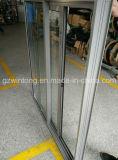Ventana de desplazamiento esmaltada doble de aluminio estándar de Australia Windows