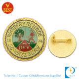 Distintivo su ordinazione del ricordo del metallo dell'oro con smalto molle (JN-B29)