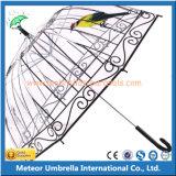 Guarda-chuva reto aberto da chuva do automóvel plástico
