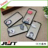 Caixa macia desobstruída ultra fina do telefone móvel do cristal TPU com impressão para o iPhone