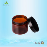 150ml / 200ml / 250ml Pet Brown Plastic Cream Jars for Cosmetic Packing