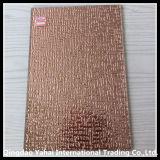 4mm Pink Gridding Patterned Decorative Glass