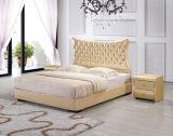 Кровать хорошего надувательства самомоднейшая кристаллический кожаный с поднимает вверх хранение