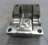 Bloco de alumínio fazendo à máquina do CNC com Brushining de superfície
