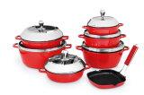 高品質の鋳造アルミの調理器具一定13PCS