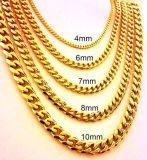 14, 18, 또는 24k Gold Plated Chain