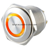 Металла кольца нержавеющей стали Ls16 16mm переключатель кнопка водоустойчивого плоского однократно электрический
