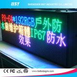 Pantalla al aire libre del servicio de acceso frontal/delantero LED de P10 (color a todo color o solo, color dual)