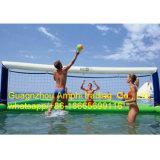 0.9mm PVC防水シートのバレーボール水ゲームか膨脹可能な浜水バレーボールフィールド