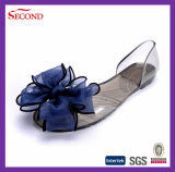 Simple Transparent PVC Jelly Flower Lady Summer Pumps Shoes