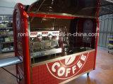 ECEが付いているコーヒートレーラーのコーヒーカートの食糧カートの/Foodのトレーラーまたは軽食のトレーラーまたはコーヒー機械トレーラーまたは一人乗り二輪馬車の/Cateringの移動式トレーラー