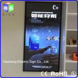 Luz de aluminio magnética del cuadro con la visualización del rectángulo del LED que hace publicidad de la tarjeta