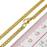 14、18、または24k Gold Plated Chain