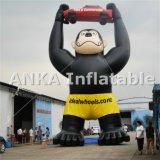 Gorila inflável da promoção feita sob encomenda com desenhos animados do caráter do carro