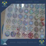Impresión de plata adhesiva de seguridad Hologramas