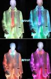 Diodo emissor de luz de fibra óptica material novo do vestido da fibra da forma de pano da tela luminoso e pano da fibra do brilho