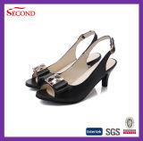 Черная обувь женщин пряжки для большого размера