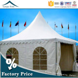 50 People Expandable Cheap High Peak Pagoda Tents for Wedding Party 5m X 5m