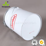 20 Liter-Metallzinn-Eimer mit Kappe mit Hebel-Sicherungsring mit kundenspezifischem Drucken