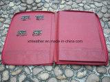 Dépliant de fichier amovible de conférence de couleur rouge avec le support principal