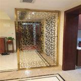 Porte grillagée décorative d'intérieur et extérieure personnalisée par usine de diviseur d'acier inoxydable de partition d'écran en métal