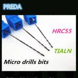 Dígitos binarios de taladro micro HRC55 con la herramienta de máquina de capa de Tialn