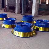 Forro da bacia e peças sobresselentes Envoltório-Elevadas do triturador do cone do manganês