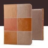 Britischer Art-Doppelt-Farben-Leder-Kippen-Deckel für das iPad PRO