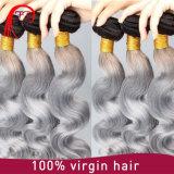 灰色カラー加工されていない人間の毛髪の拡張