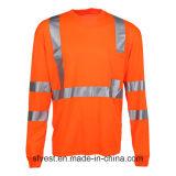 T-shirt r3fléchissant de sûreté de longue visibilité élevée respirable de chemise