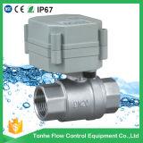 Un pollice Ss304 di 2 modi 1 ha motorizzato la valvola spenta dell'acqua per rilevazione di colatura (T25-S2-B)