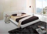 Король Кровать Ikea кожаный для пользы спальни (B022)