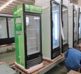 Refrigerador ereto da única porta de vidro da alta qualidade
