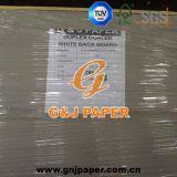 Papier de panneau de duplex de dos de blanc d'e cannelure en feuille